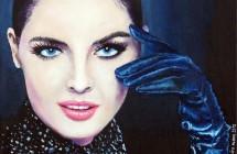 Mujer con guantes