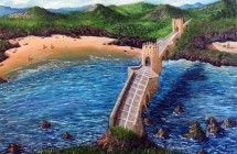 Bridge over the sea and the mountains