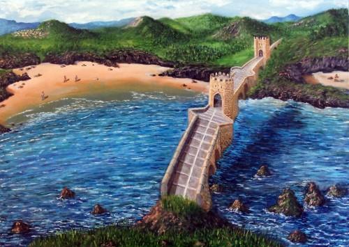 Puente en la costa