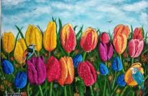 Tulipanes y Gotas